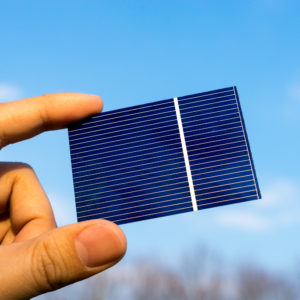 Green energy, Photovoltaic Solar Cell with hand